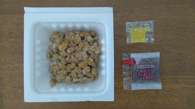 北海道産大豆100% 小粒納豆(QUEEN'S ISETAN PB)開封後