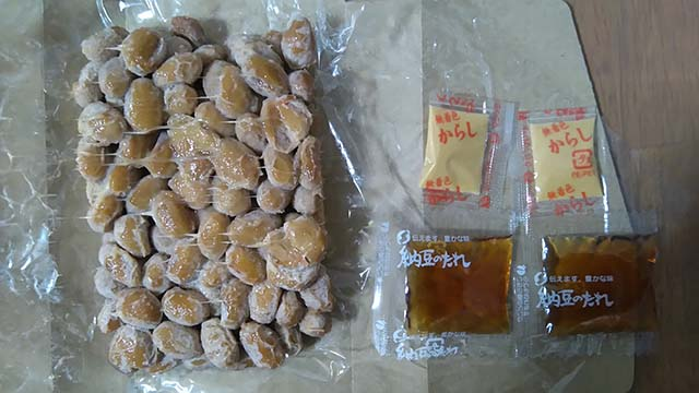 一粒のめぐみ 鶴の子納豆開封後