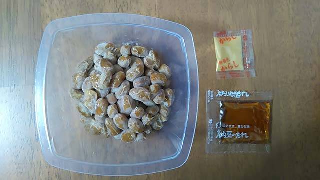 MINOSUKE & 一粒ミニ納豆(小粒)開封後